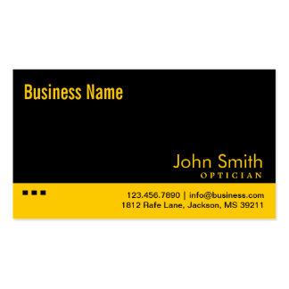 Plain Black & Yellow Optician Business Card