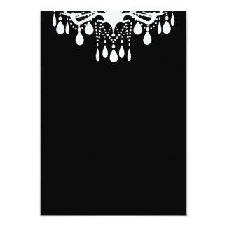 Plain Blank Black Grand Ballroom Custom Invitations
