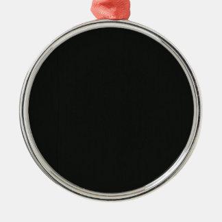Plain Blank Black Grey DIY add quote text photo Metal Ornament