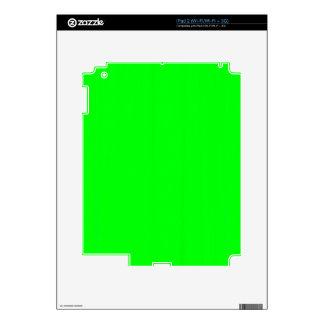 Plain Blank Green DIY template add text photo quot iPad 2 Decal