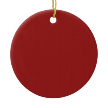 Christmas Themed Plain Blank Red Shades DIY add text quote photo Ceramic Ornament
