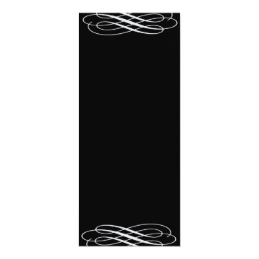 Professional Business Plain Blank Silvery Ribbons Card