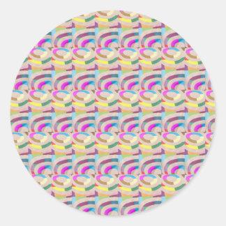 Plain Blank Template DIY Chakra Golden add TXT IMG Classic Round Sticker