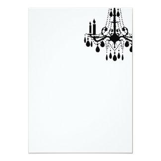 Plain Blank White Grand Ballroom 5x7 Paper Invitation Card