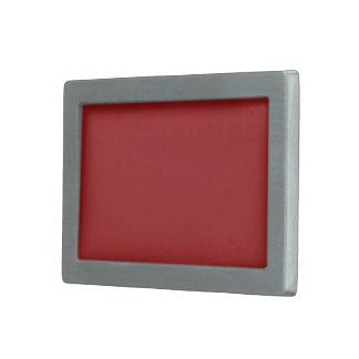 Plain Blaze Red color Belt Buckle