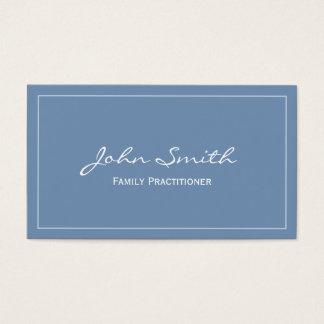 Plain Blue Family Practitioner Business Card