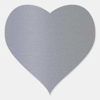 Plain BLUE GREY DarkGray Heart Sticker