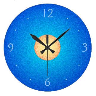 Plain Blue with Yellow/Orange Centre>Wall Clock