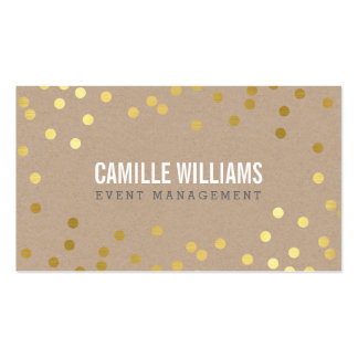 PLAIN BOLD MINIMAL confetti gold eco natural kraft Double-Sided Standard Business Cards (Pack Of 100)