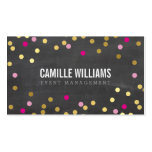 PLAIN BOLD MINIMAL confetti gold pink chalkboard Double-Sided Standard Business Cards (Pack Of 100)