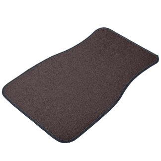 Plain Brentwood Brown color Floor Mat