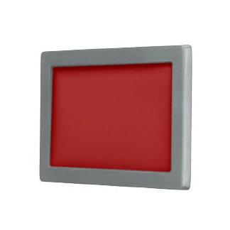 Plain Bright Red color Rectangular Belt Buckle