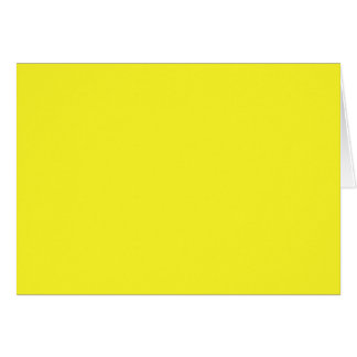 Plain Bright Yellow  color Card