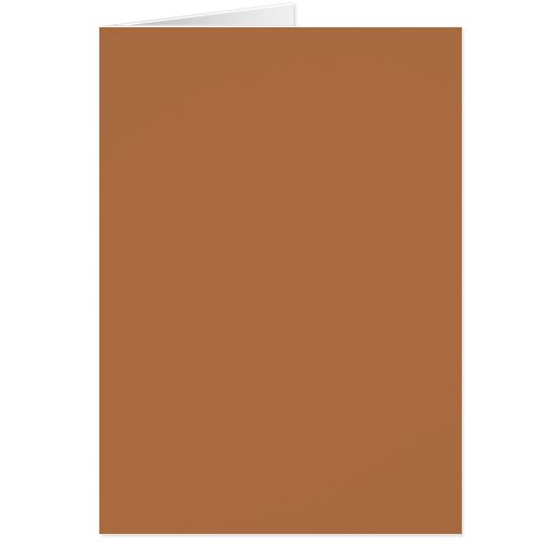 Plain Brown Background. Greeting Card