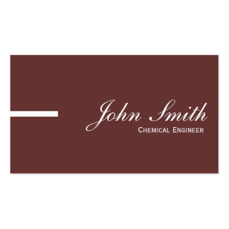 Plain Brown Chemical Engineer Business Card