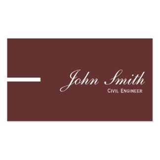 Plain Brown Civil Engineer Business Card