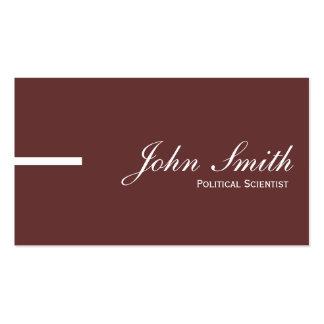Plain Brown Political Scientist Business Card