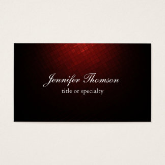 Plain Brownish Red Classical Handwriting Business Card