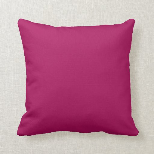 Plain Burgundy Red Background Throw Pillow