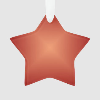 Plain Burnt Orange>Acrylic Star Ornament