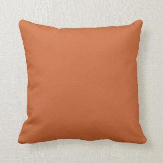 Plain Burnt Orange> Throw Pillow
