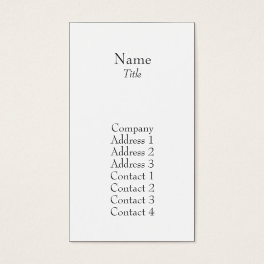 Plain - Business Business Card
