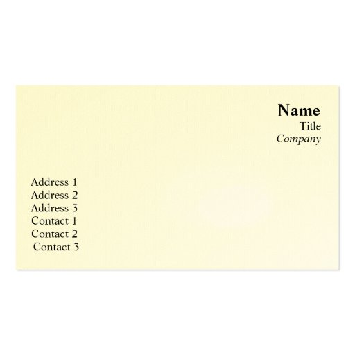 Plain  - Business Double-Sided Standard Business Cards (Pack Of 100)