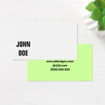 Plain businesscards business card