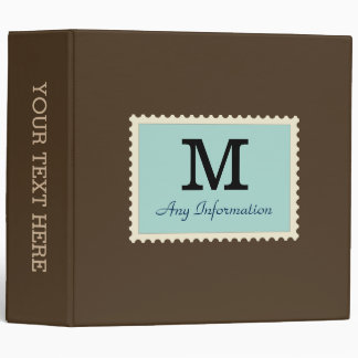 Plain Cafe noir Background Monogram Binder