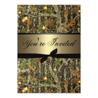 Plain Camo Wedding Invitation