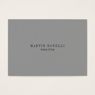 Plain Chubby Professional Grey Business Card