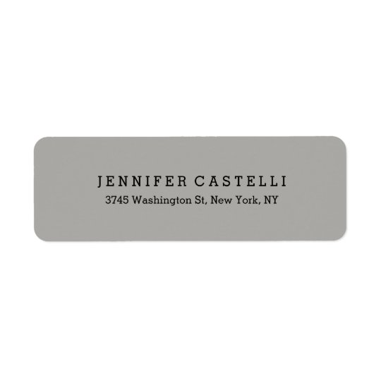 plain classical font grey minimalist professional label