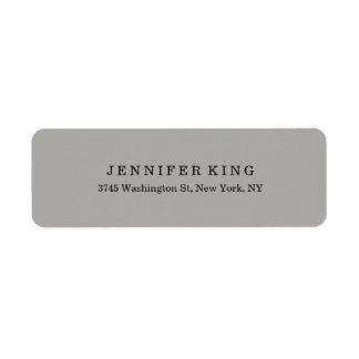 Plain Classical Grey Minimalist Professional Label