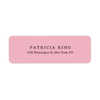Plain Classical Pale Pink Minimalist Professional Label