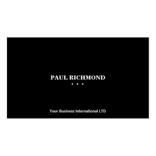 Plain clean black minimalistic business cards