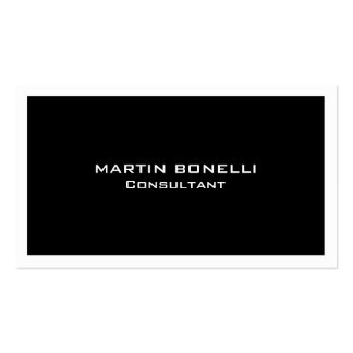 Plain Clean Black White Border Standard Double-Sided Standard Business Cards (Pack Of 100)