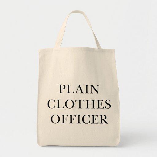 Plain Clothes Officer Canvas Bags