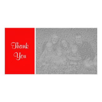 Plain Color II - Thank You - Red Card