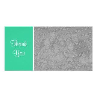 Plain Color II - Thank You - Sea Green Card