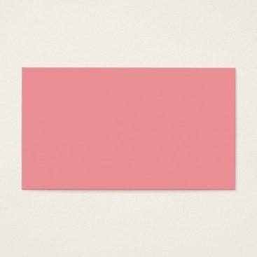 Professional Business Plain Color Peach Coral Business Cards Colors 10