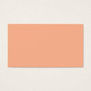 Professional Business Plain Color Peach Coral Business Cards Colors 2