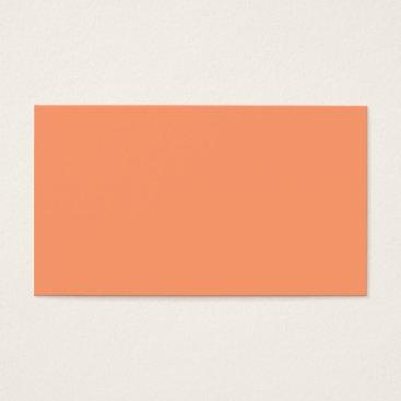 Professional Business Plain Color Peach Coral Business Cards Colors 3