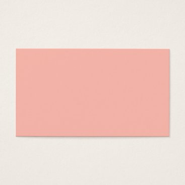 Professional Business Plain Color Peach Coral Pink Business Cards Colors