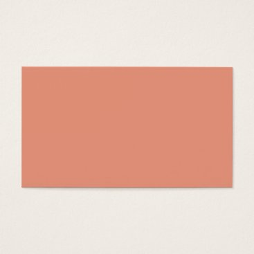 Professional Business Plain Color Peach Orange Business Cards Colors 7