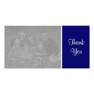 Plain Color - Thank You - Dark Blue Photo Cards