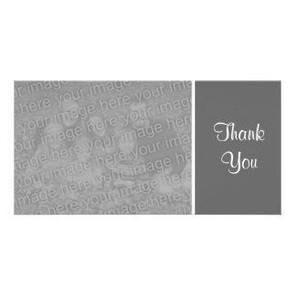 Plain Color - Thank You - Dark Gray Card