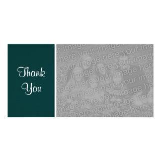 Plain Color - Thank You - Dark Green Card