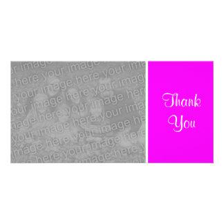 Plain Color - Thank You - Magenta Photo Cards