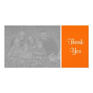 Plain Color - Thank You - Orange Card