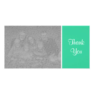Plain Color - Thank You - Sea Green Photo Card